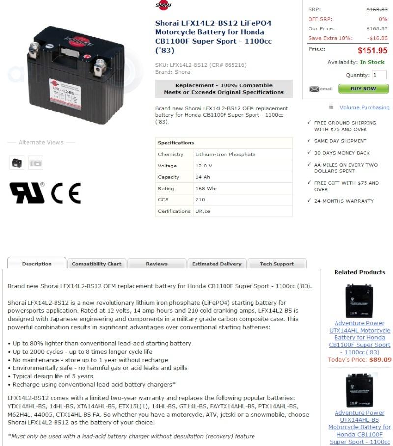 batterie lithium-ion ? Batt110