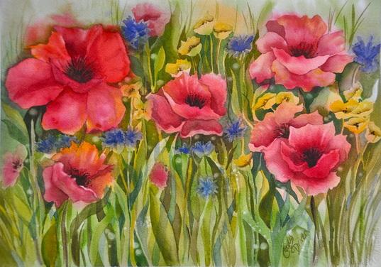 Les FLEURS  dans  L'ART - Page 30 Cady_d10