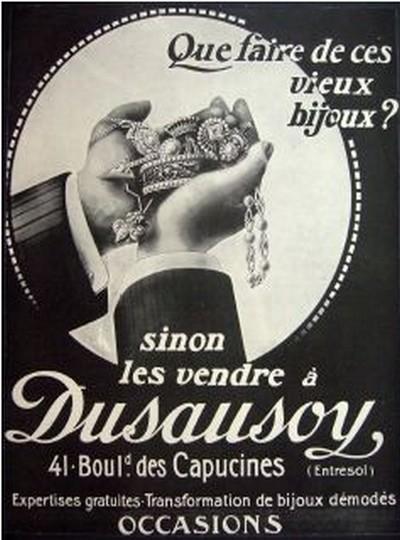 Les affiches du temps passé quand la pub s'appelait réclame .. - Page 37 Dusaus10