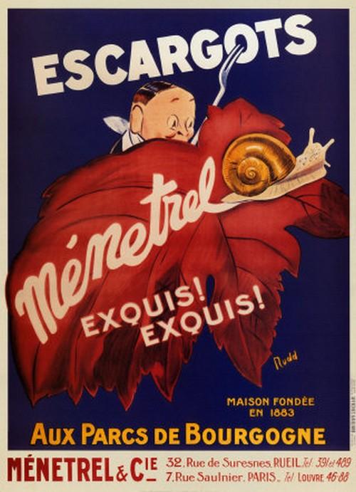 Les affiches du temps passé quand la pub s'appelait réclame .. - Page 36 Escarg10