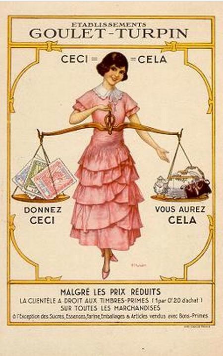 Les affiches du temps passé quand la pub s'appelait réclame .. - Page 36 Goulet10