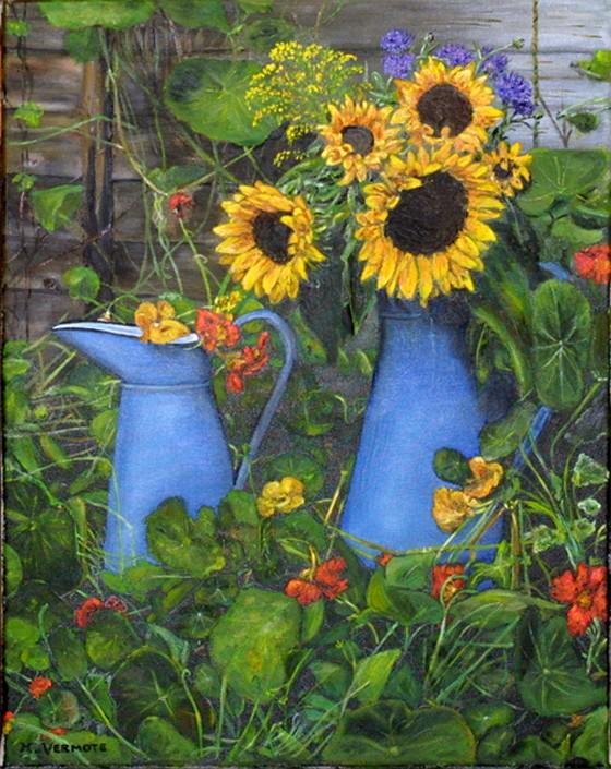 Les FLEURS  dans  L'ART - Page 20 Helane10