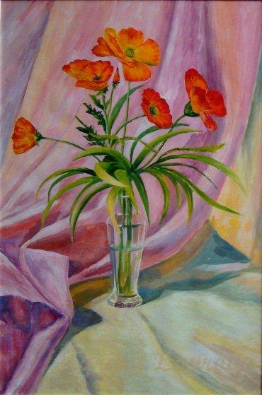 Les FLEURS  dans  L'ART - Page 20 Marina10