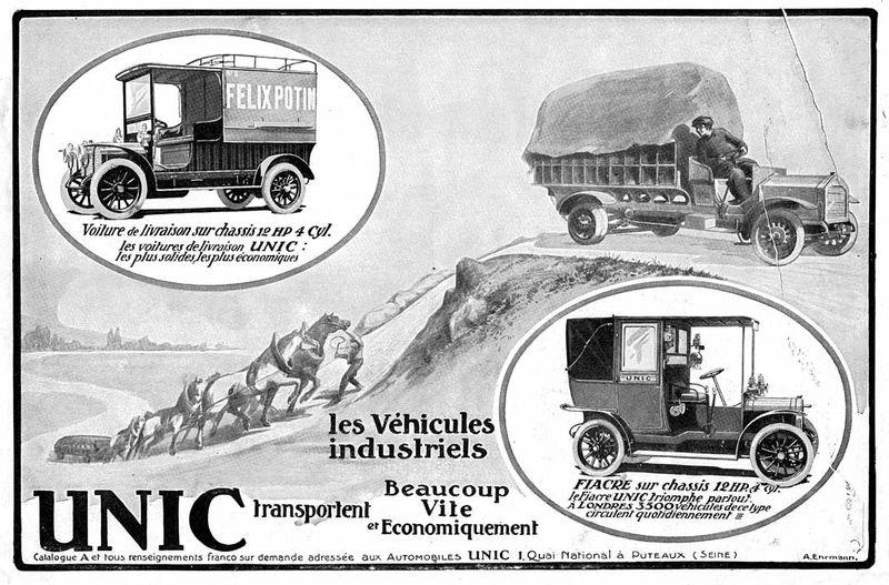Basé sur l'ordre alphabétique, des noms de voitures, camions, dragsters, vélos, motos, tracteurs, bref tout ce qui roule !... - Page 5 Unic_v10