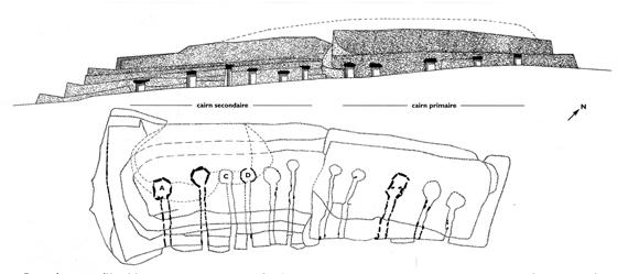 Le grand cairn de Barnenez Planba10