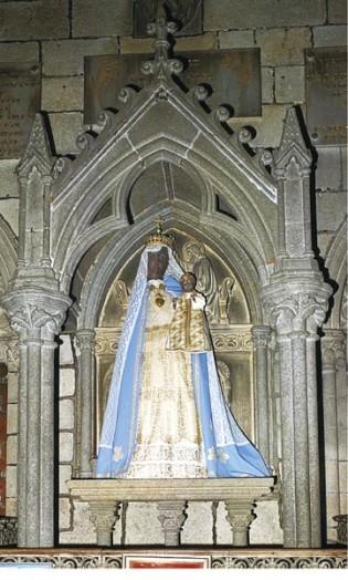 La Basilique hermétique de Guingamp - Notre Dame de Bon Secours (source : Editions Atlantis - juillet/août 1969) Vierge10