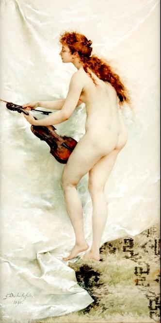 MUSIQUE: musiciens en peinture , en sculpture,... - Page 3 Dubufe10