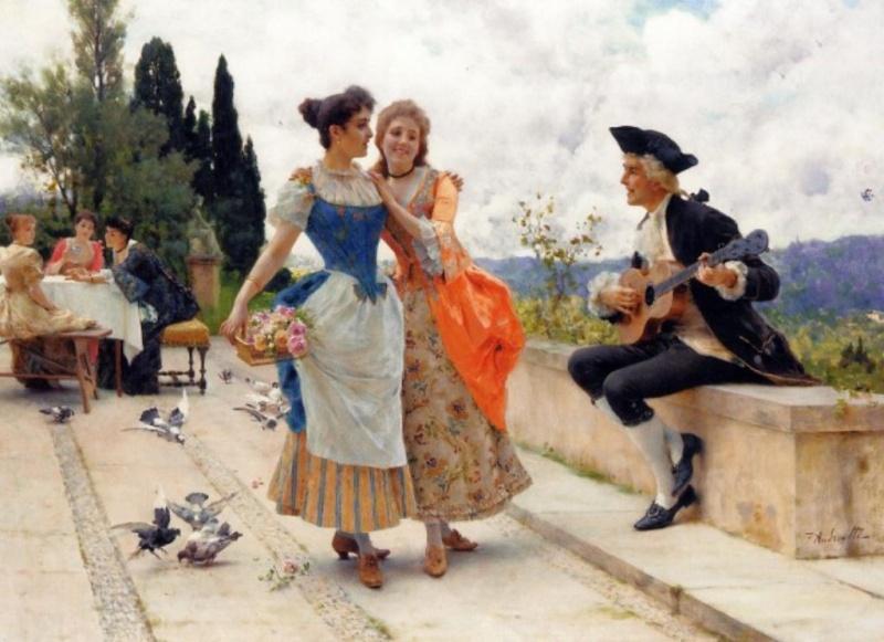 MUSIQUE: musiciens en peinture , en sculpture,... - Page 3 Federi11