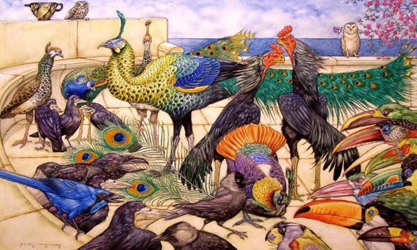 LE PAON: l'oiseau aux cent yeux  - Page 2 Paon_a15