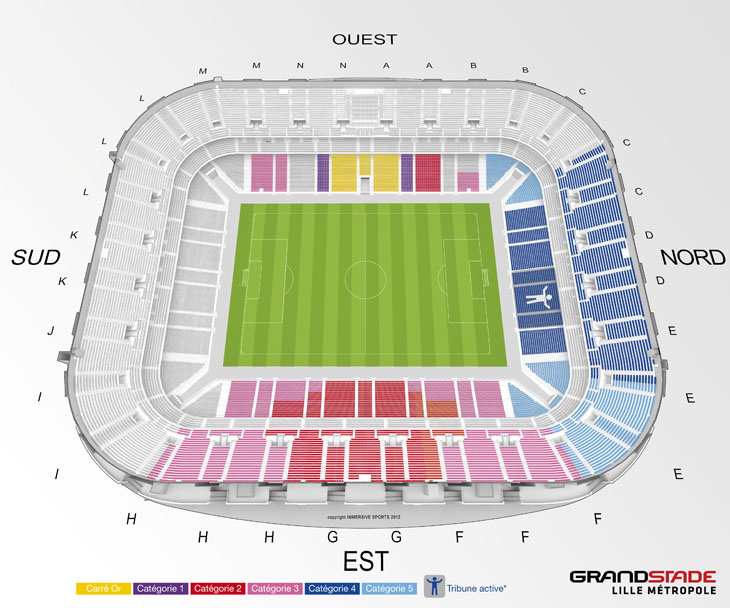 Grand stade Lille Métropole - 50157 places 12041610