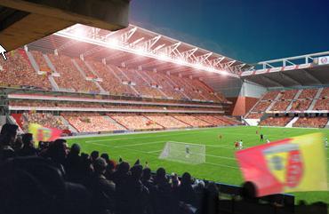 Stade Félix-Bollaert - (50,000 places fin estimée 2014) Lens_s11