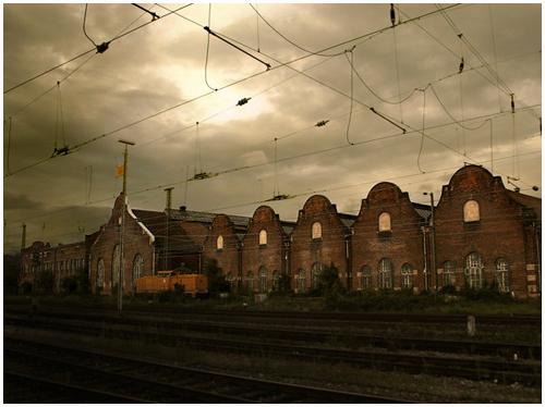 La gare et les voies ferrées Train10