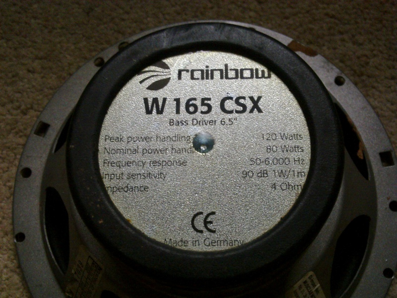 "Rainbow W 165 CSX 6.5"" (SOLD ) 29122012"