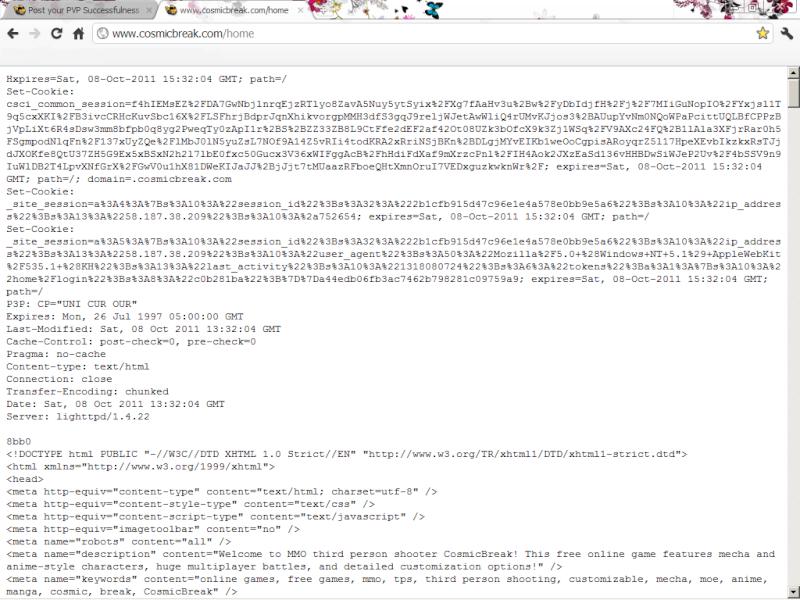 cant LOGIN official website cosmicbreak using GOOGLE chrome  Chrome10
