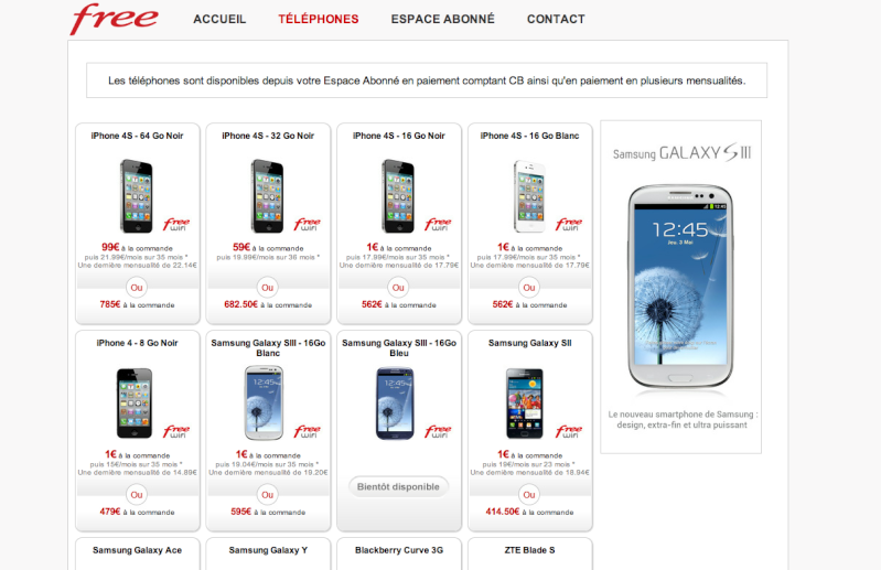 [NEWS] Le Samsung Galaxy S III disponible chez Free Mobile Captur12