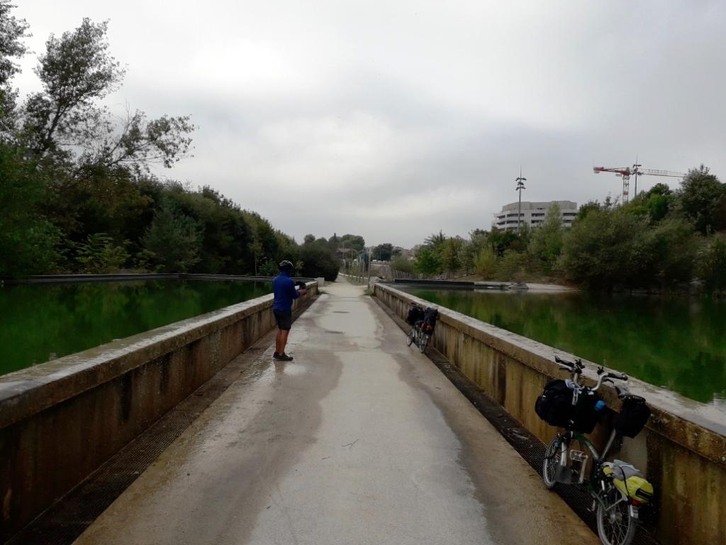 Piste cyclable à travers l'eau en Belgique 20180185