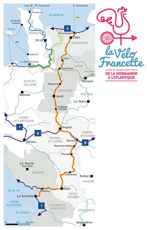 Des Plages du Débarquement aux Tours de La Rochelle (24 juin au 3 juillet 2021) Carte-11