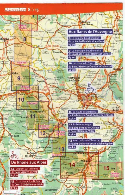 """Vélo buissonnier """"De la Bourgogne à la Drôme provençale"""" (10 au 16 juin 2021) Carte_22"""