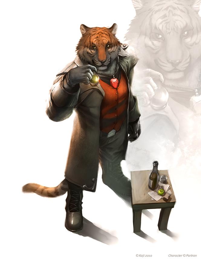 Characters des quatre personnages. Tigre10