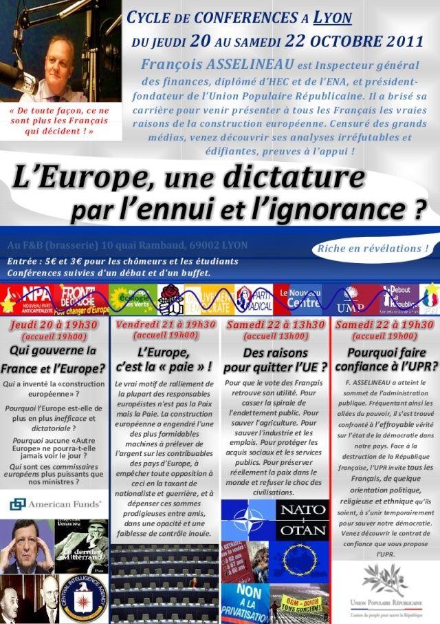 Asselineau, le retour du complotiste à Lyon (mais que fait la CIA ?) Cycle-10