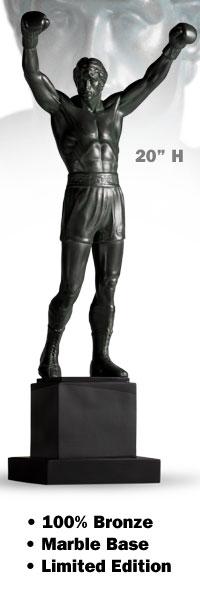 "Statue Rocky Balboa 20"" en bronze et marbre (Sideshow) 691312"
