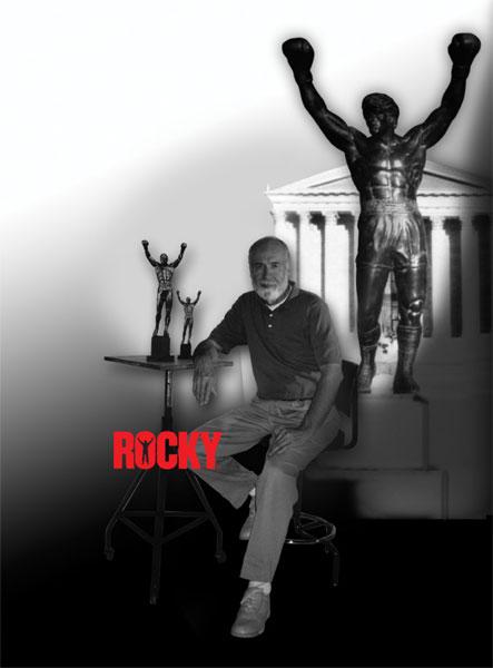 """Statue Rocky Balboa 20"""" en bronze et marbre (Sideshow) 6913_p11"""