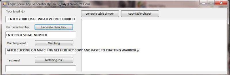 eagle serial key generator for chatting worrier Serial10