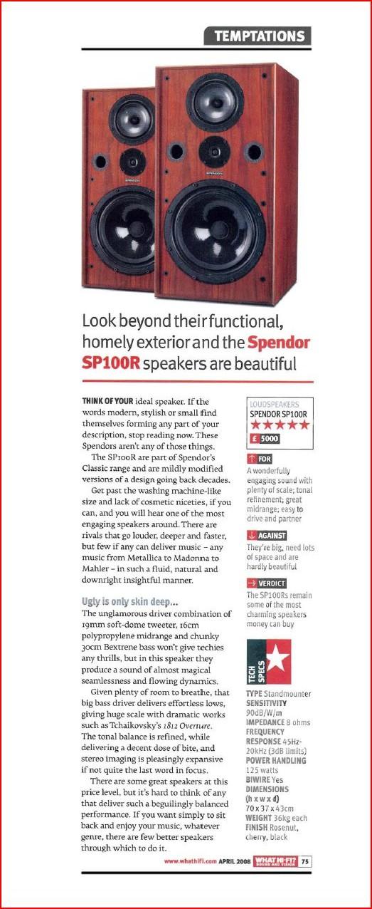 Watt about Spendor? Sp100r10