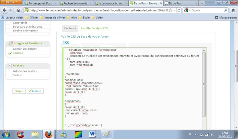 le code pour écrire un texte dans la chatbox Probka11