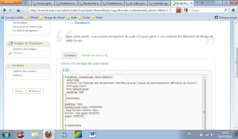 le code pour écrire un texte dans la chatbox Probka14