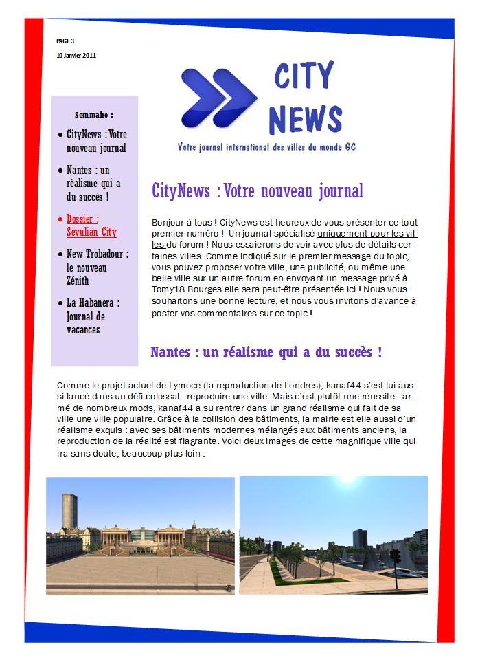 [Presse] -> CityNews -> PREMIER NUMÉRO ! 112