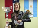 Carolina Lujan wins South American Zonal 2.5 in Chile 2011zo12
