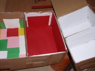 Preparando las cajas para los huevos de este año P5144213