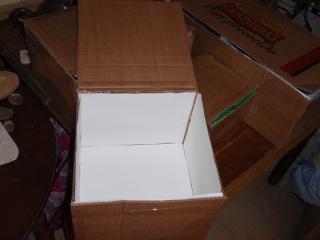 Preparando las cajas para los huevos de este año P5144215