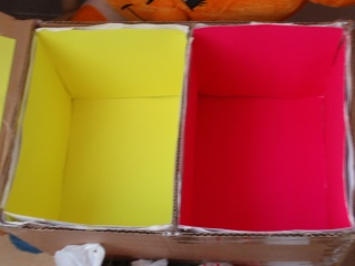 Preparando las cajas para los huevos de este año Rrrrrr11