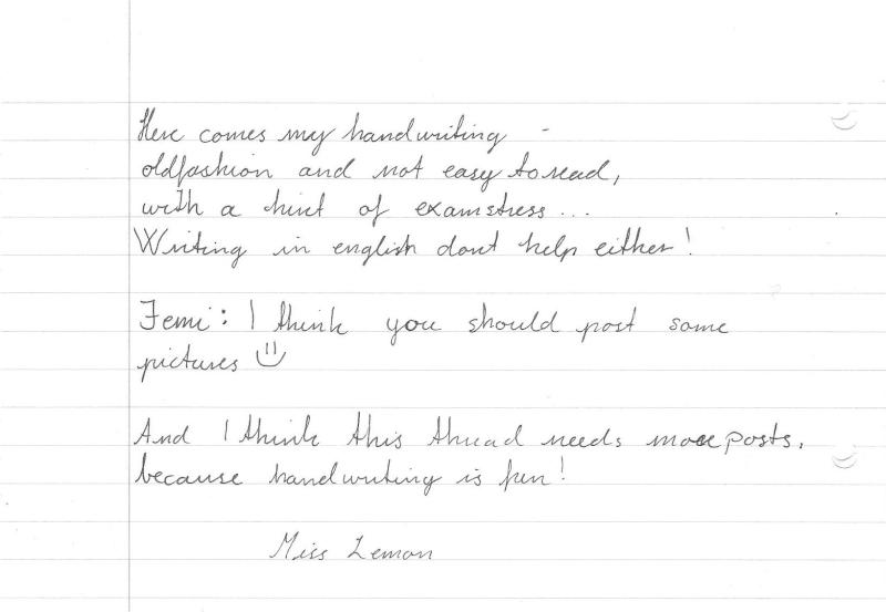 Handwritten thread Haynds10