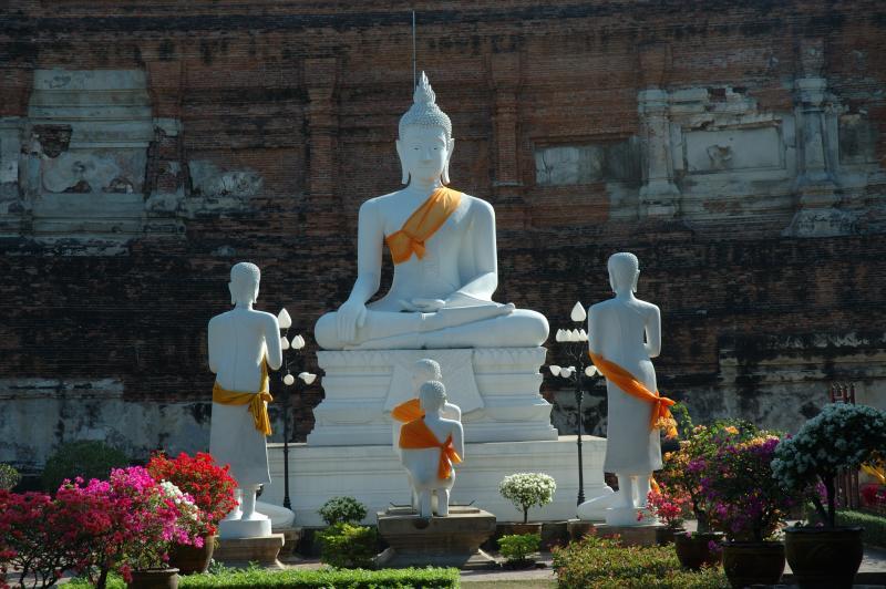 Le geste de la prise de la terre à témoin : bhûmispashamudrâ Ayutth11