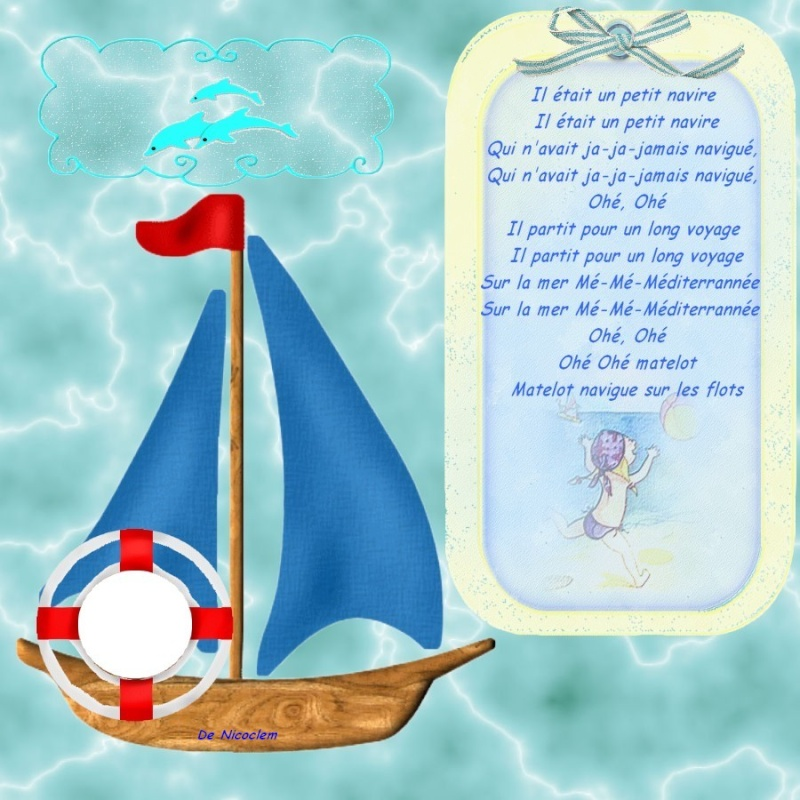 Mes illustrations comptines et chansons Navire10
