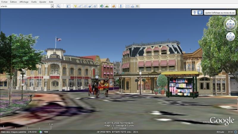 """Les parcs Disney américains ont une """"drôle de touche"""" sur Google Earth en 3D!! Magic_10"""