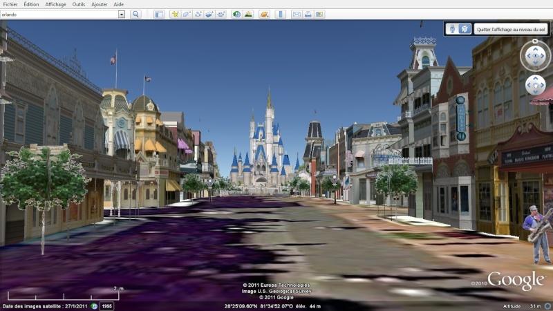 """Les parcs Disney américains ont une """"drôle de touche"""" sur Google Earth en 3D!! Magic_11"""