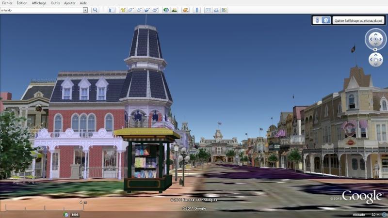 """Les parcs Disney américains ont une """"drôle de touche"""" sur Google Earth en 3D!! Magic_12"""