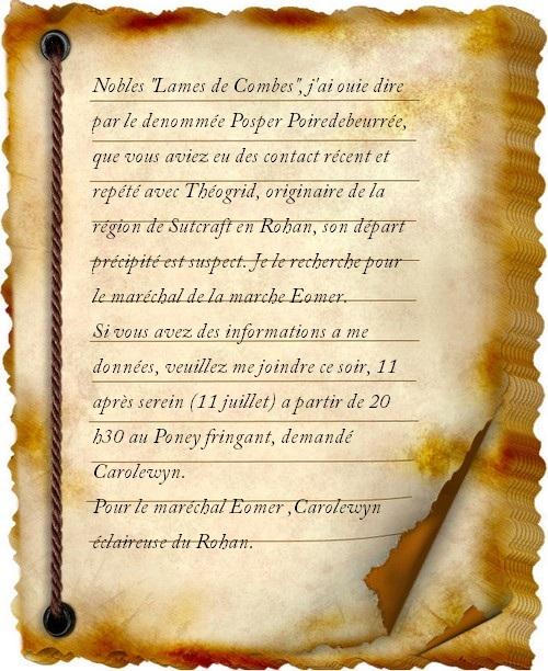 Lettre sur la porte Carole10