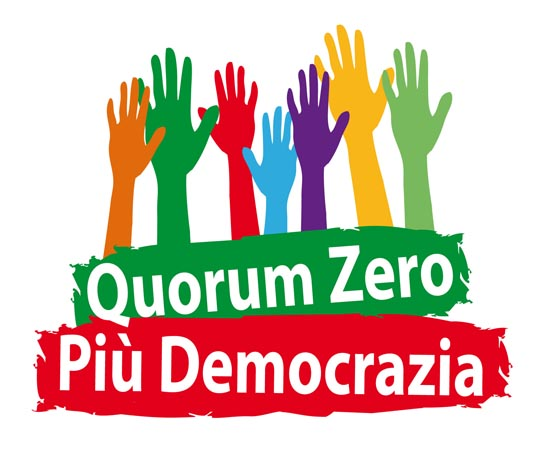 progettazione logo e immagini per Iniziativa Quorum Zero e Più Democrazia 5510