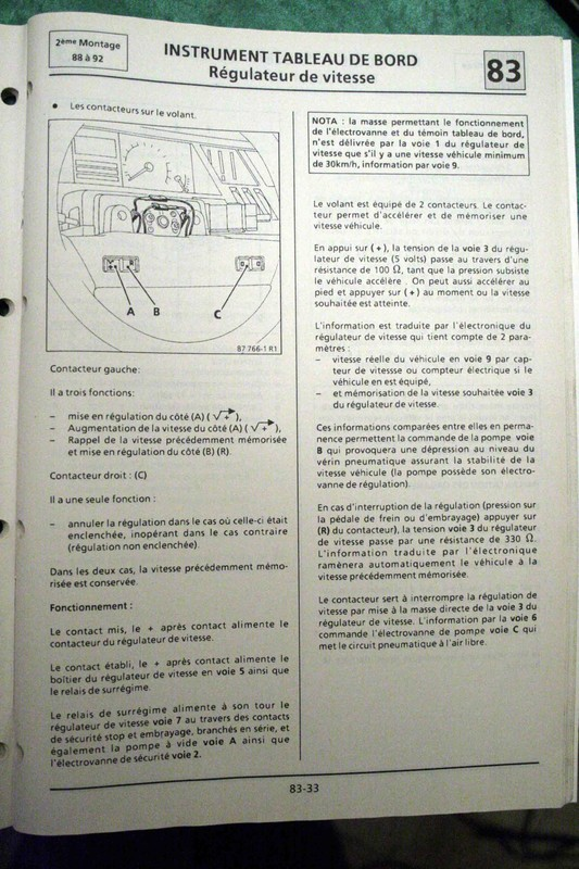 Régulateur de vitesse sur GTX Bva Rgulat11