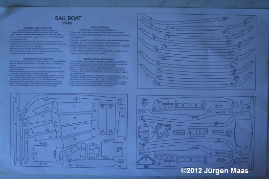 Segelschiff aus Holz ohne Maßstab Schiff17