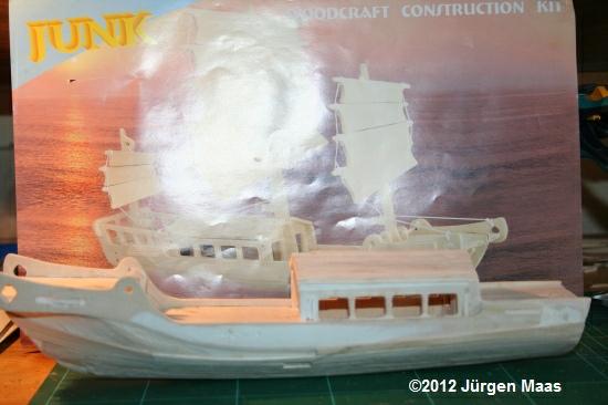 Segelschiff aus Holz ohne Maßstab Schiff19