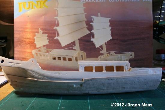 Segelschiff aus Holz ohne Maßstab Schiff20