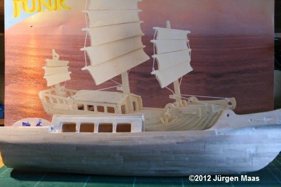 Segelschiff aus Holz ohne Maßstab Schiff21
