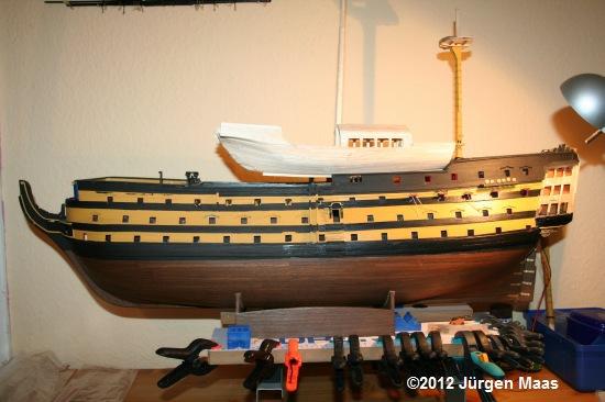 Segelschiff aus Holz ohne Maßstab Schiff32