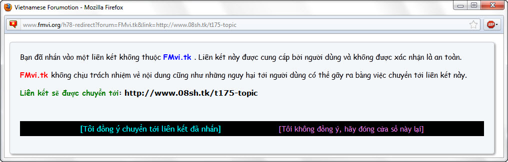 Popup cảnh báo khi click vào liên kết chuyển đến trang khác Ulink11